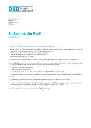 Einfach ab die Post! - Deutsche Kreditbank AG