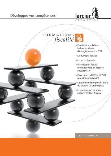 catalogue de formations - Editions Larcier