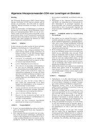 Algemene Inkoopvoorwaarden COA voor Leveringen ... - TenderGuide