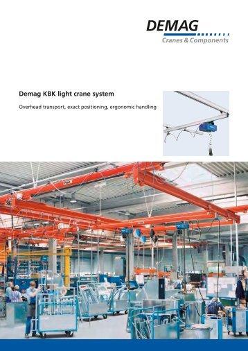 Demag KBK light crane system - Poduri rulante