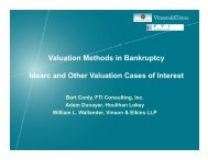 Idearc and Valuation Methods in Bankruptcy - Vinson & Elkins LLP