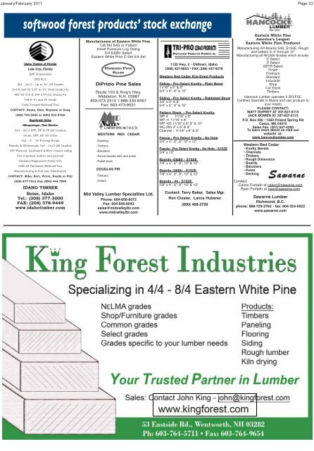softwood forest products - Miller Publishing Corporation