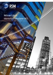 Mehrwert durch Interne Kontrollsysteme (IKS) - RSM Germany