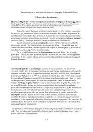 Proposition pour le traitement du thème de Géographie - Mission TICE
