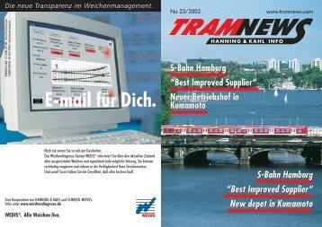 """S-Bahn Hamburg """"Best Improved Supplier"""" Neuer ... - Hanning & Kahl"""