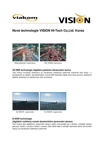Nové technologie VISION HI-Tech Co,Ltd. Korea