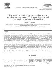Short-term responses of terpene emission rates to ... - CREAF