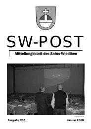 Mitteilungsblatt des Satus-Wiedikon