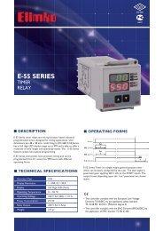E-55 Series Timer Relay - Elimko