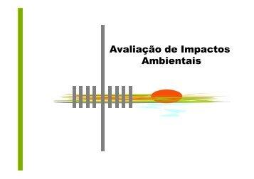 Avaliação de Impactos Ambientais - UNIPAMPA Cursos