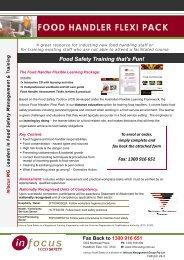 food handler flexi pack - Food Safety Training