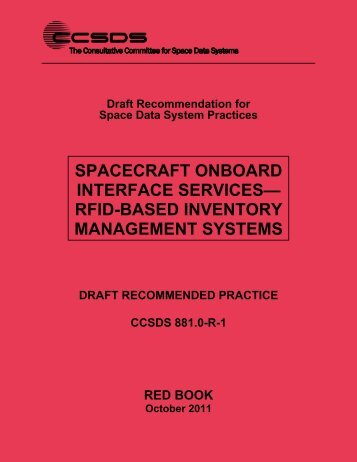 CCSDS 881.0-R-1, Spacecraft Onboard Interface Services—RFID ...