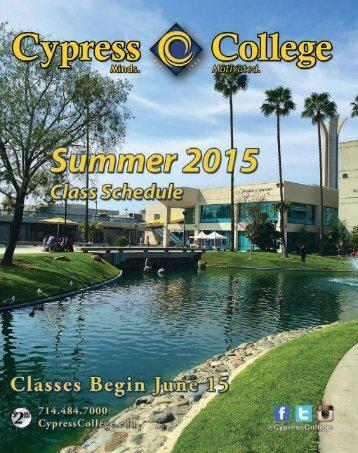 2015-Cypress-College-Summer-Schedule