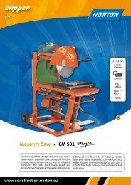 Masonry Saw CM 501 - Norton Construction Products
