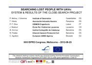 SYSTEM & RESULTS OF THE CLOSE-SEARCH PROJECT