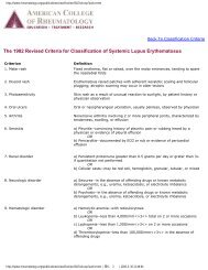 The 1982 Revised Criteria for Classification of Systemic Lupus ...