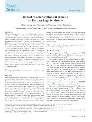 Impact of aerobic physical exercise on Restless Legs Syndrome