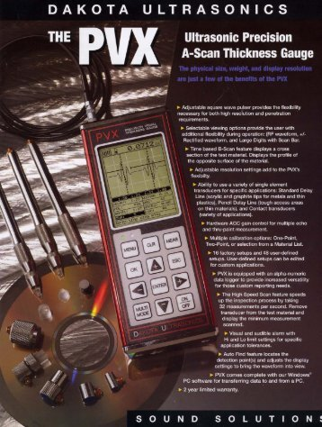 DAKOTA ULTRASONICS - Radiatronics NDT Inc.