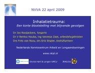 Inhalatietrauma: - Nederlandse Vereniging voor Arbeidshygiëne