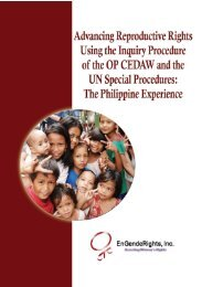 Advancing Reproductive Rights Using the - CEDAW Southeast Asia