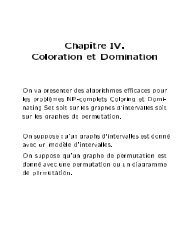 Chap^ tre IV. Coloration et Domination - Lita