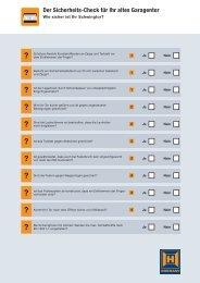 Sicherheits-Checkliste