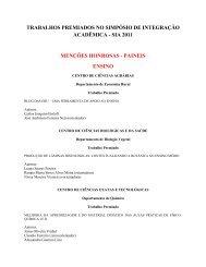 trabalhos premiados no simpósio de integração acadêmica