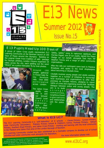 Summer 2012 Newsletter - E13 Learning Community