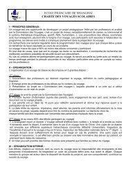 Charte voyages scolaires - Lycée français de Shanghai