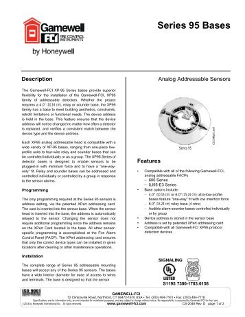 series 95 bases analog addressable sensor gamewell fci?quality\=85 gamewell pid 95 wiring diagram gamewell pid 95 installation manual  at suagrazia.org