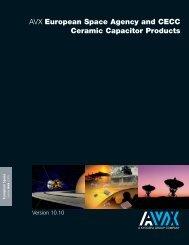 European Space Agency and CECC Ceramic Capacitor ... - AVX