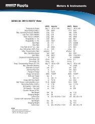 Roots 2M175 CTR Series B3 Meter Technical Bulletin. - Burnerparts