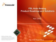 FSL Auto Analog Product Roadmap and Solutions