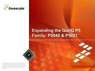 QorIQ P5040 and P5021 - Freescale Semiconductor