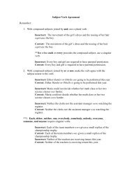 Subject-Verb Agreement - Library