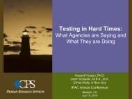 Testing in Hard Times: What Agencies are Saying and What ... - IPAC