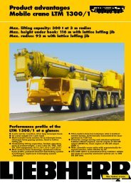 Product advantages Mobile crane LTM 1300/1 - Passion-Liebherr
