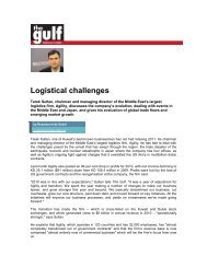 Logistical challenges - Agility
