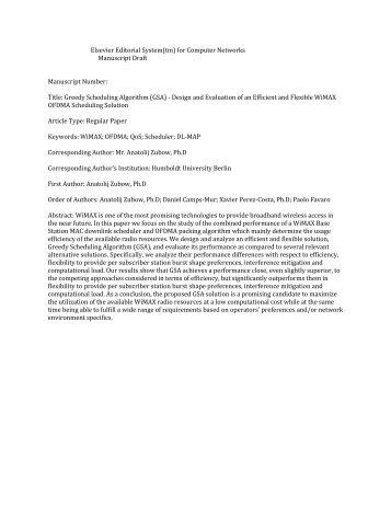 Elsevier Editorial System(tm) for Computer Networks Manuscript ...