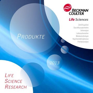 Übersichtsbroschüre Life Science Research 2013 - Beckman Coulter