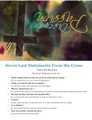 April 17: Notes & Program - SouthPoint Church