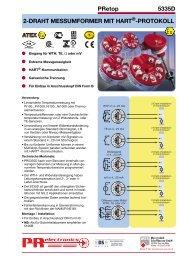 PROFIBUS® PA / FOUNDATION™ Fieldbus ... - Industrie-Schweiz