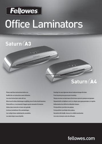 Saturn A3/A4 Manual - Fellowes