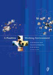 A Positive Working Environment - Department of Public Expenditure ...