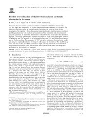 Possible overestimation of shallow-depth calcium carbonate ...