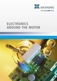 electronics around the motor - Hanning Elektro-Werke GmbH & Co. KG