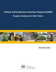 CARIP Guidance 2012 - Ministry of Community, Sport and Cultural ...