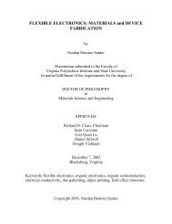 FLEXIBLE ELECTRONICS: MATERIALS and ... - Virginia Tech
