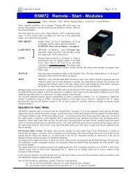 RSM72 Remote - Start - Modules - Power Drive Systems Generator ...