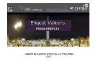 RapportdeGestion EfigestValeurs-30-11-2007 - Efigest Asset ...